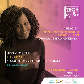 MEST Africa Tech By Her Accelerator Program 2020 | Female Entrepreneurs