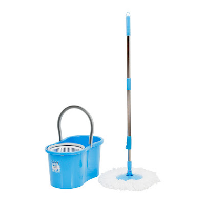 Alat Pel super praktis Iclean Magic Spin MOP Blue