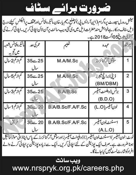 National Rural Support Programme Latest Jobs in Rahim Yar Khan
