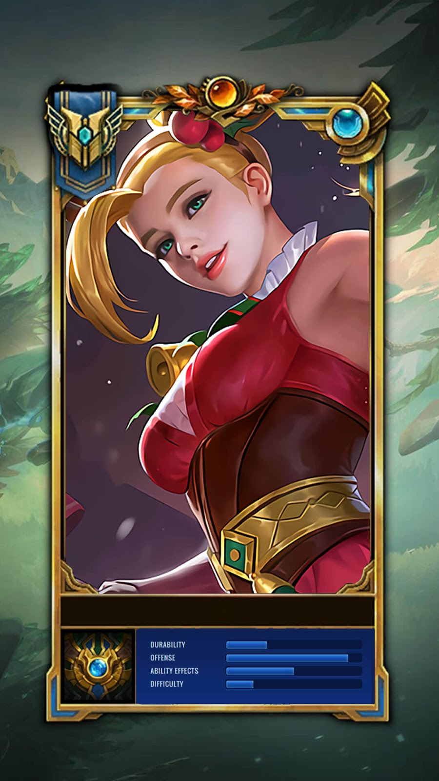 Wallpaper Karina Christmas Carnival Skin Mobile Legends HD for Mobile