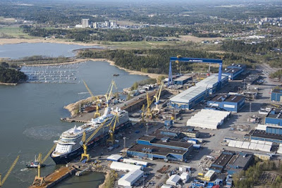 Meyer Werft Shipyard Turku Finland Expecting layoff due to cruise lines impacted by the coronavirus