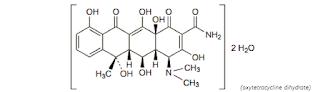Oksitetrasiklin merupakan Golongan tetrasiklin menghambat sintesis protein pada ribosom ba Oksitetrasiklin