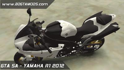 YAMAHA R1 2012 para GTA San Andreas 5