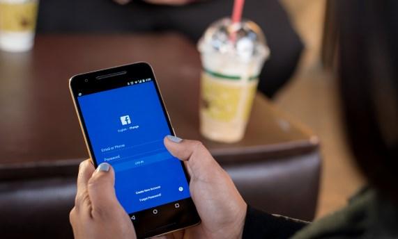 Facebook login via mobile phone