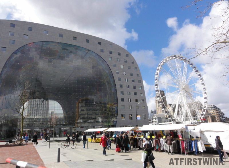 Markthal Rotterdam Netherlands temporary ferris wheel tuesday open market