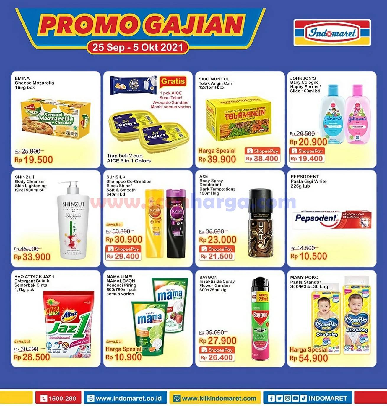 INDOMARET Promo GAJIAN Periode 25 September - 5 Oktober 2021 2