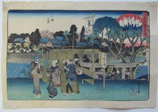 歌川広重 広重 江戸高名会亭尽 三囲之景の浮世絵版画販売買取ぎゃらりーおおのです。愛知県名古屋市にある浮世絵専門店。