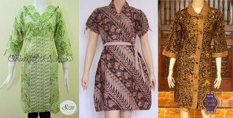 gambar model baju gaun batik orang gemuk