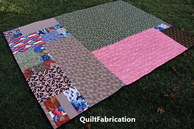 Kimono quilt backing