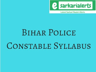 Bihar Police Constable Syllabus 2017