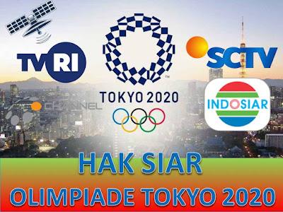 Reciever Hak Siar Stasiun TV Indonesia dan Parabola Pertandingan Olimpiade Tokyo 2020
