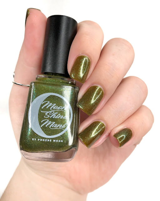 Moon Shine Mani Roses are Red, Zombies are Green