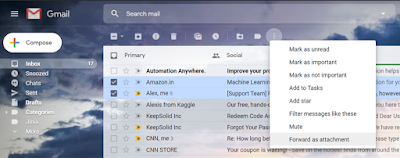 How to attach multiple emails in Gmail