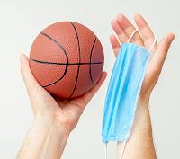 Balón baloncesto mascarilla