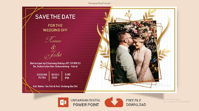 Undangan Digital Pernikahan Powerpoint SatuHalaman- Download