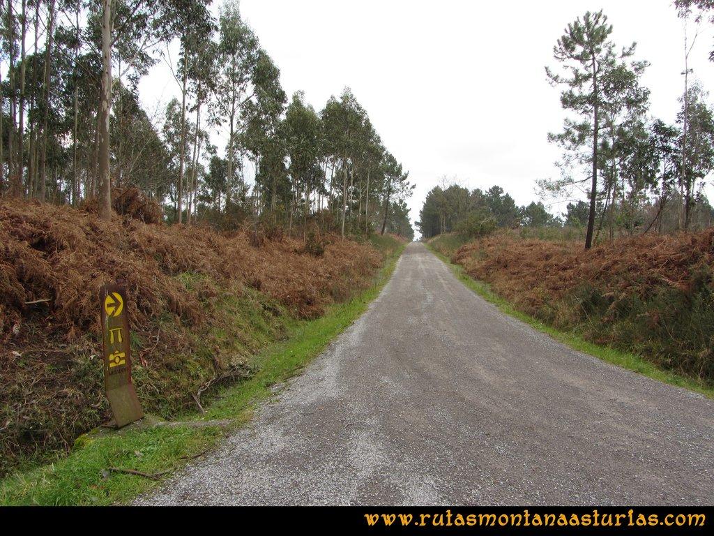 Ruta de los Dólmenes y Monte Areo: Señal ruta de los Dólmenes