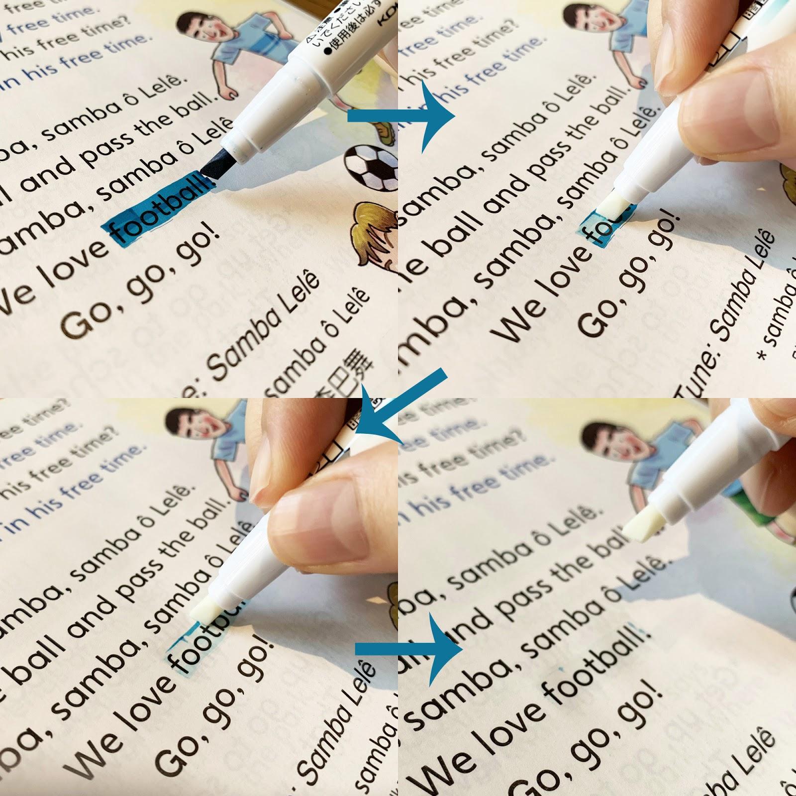 大頭金♥小愛玉♥文具戀 : 【日本KOKUYO 開箱文】聰明暗記螢光筆+Checkle 暗記筆 標示或消去 隨心所欲