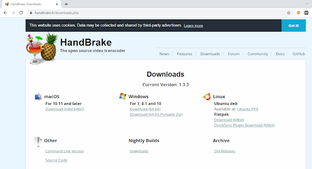 Cara Download Handbrake