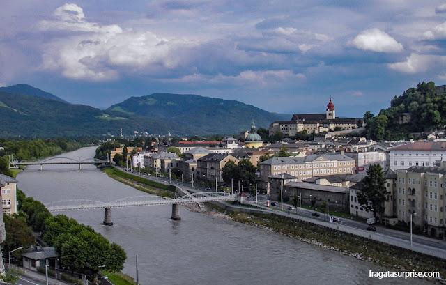 Rio Salz, em Salzburgo
