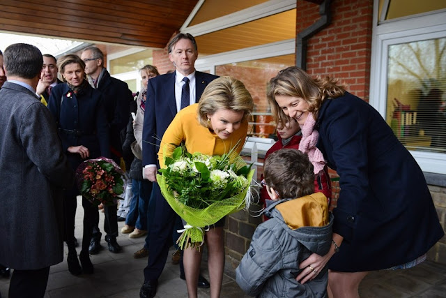 Queen Mathilde visit to a center for children who need special medical care