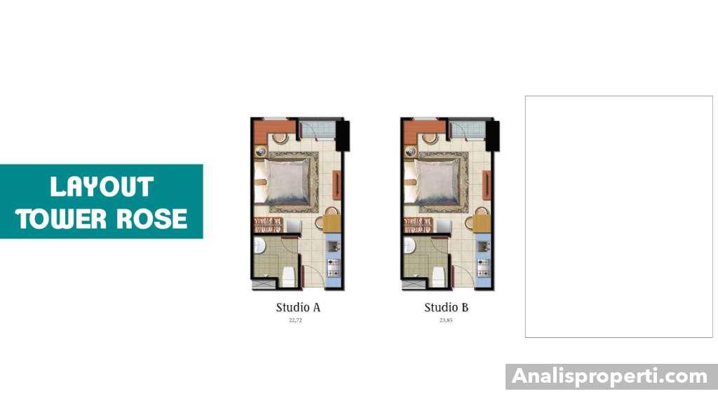 Denah B Residence Tipe Studio
