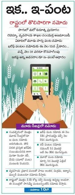 e-crop ysr rythu bharosa scheme