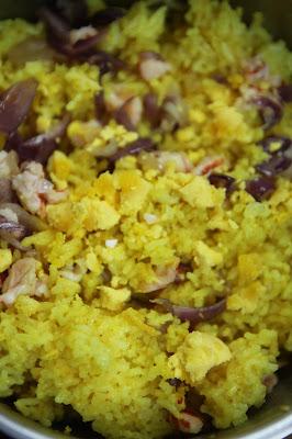 Prawn Kedgeree Stuffed Eggs. Gluten-free Recipe