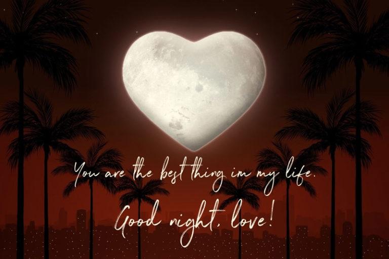 Wishing someone good night