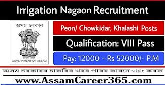 Irrigation Nagaon Recruitment 2021 - 29 Grade IV Vacancy
