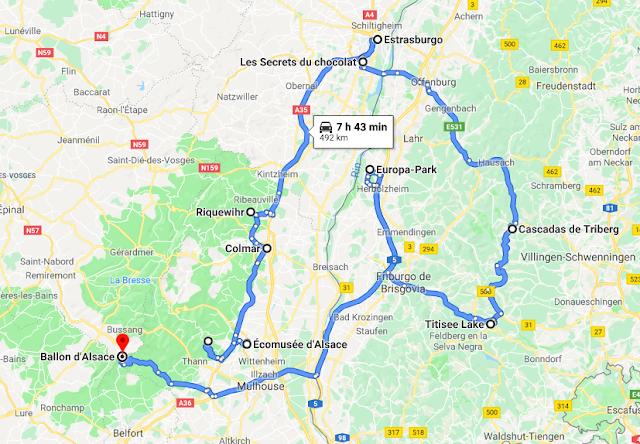 Ruta por Alsacia y la Selva Negra en autocaravana