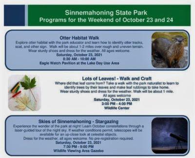 10-23 Sinnemahoning State Park Events