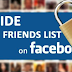 Hide Friend List Facebook Updated 2019
