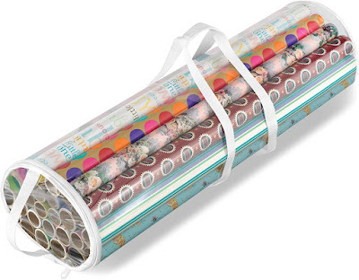 Clear Zipper Gift Wrap Organizer