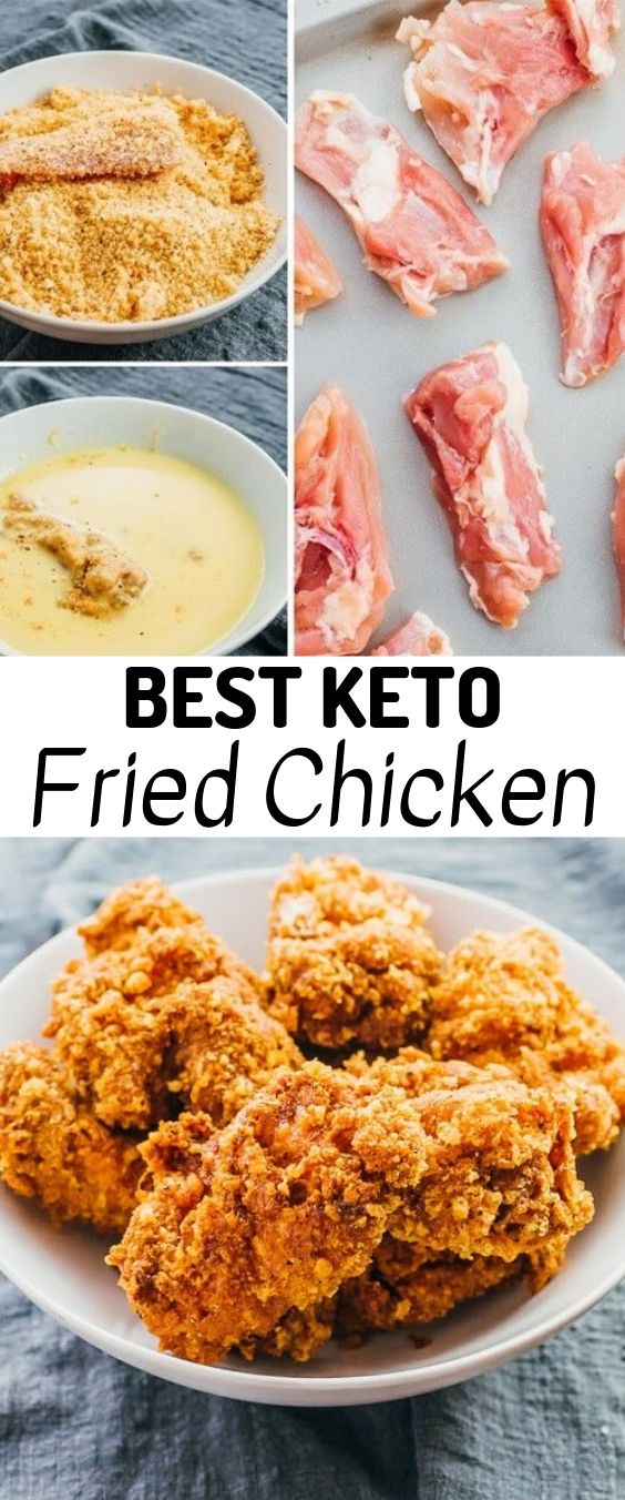 Best Keto Fried Chicken | Keto recipes, keto chicken recipes, keto recipes easy, keto recipes dinner,keto recipes ground beef, keto recipes breakfast, keto recipes with cream cheese, keto recipes lunch, keto recipes with coconut flour, keto recipes for beginners, keto recipes for kids, keto recipes instant pot, keto juice recipe, keto recipes with almond flour, keto recipes vegan, keto recipes vegetarian, keto recipes chicken thighs. #Keto #Ketorecipes #Chicken #Friedchicken #Ketodiet #Ketogenic