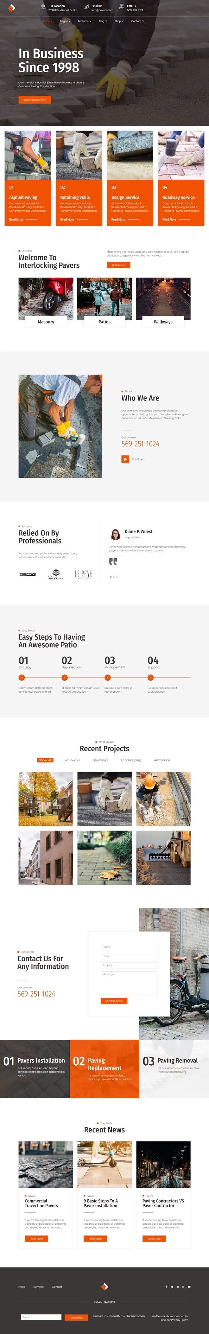 Paving Contractor Joomla Template with Page Builder