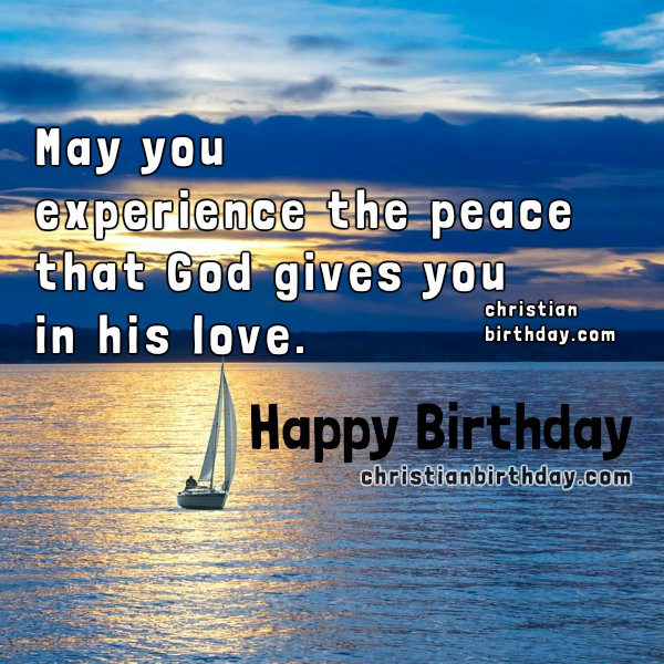 Happy Birthday Christian image for a christian man, nice birthday card with quotes by Mery Bracho