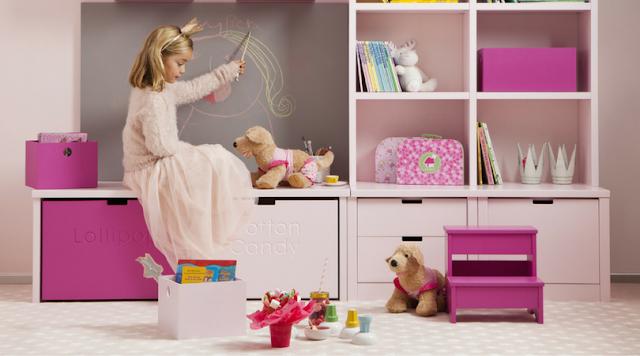 habitación juvenil en rosa