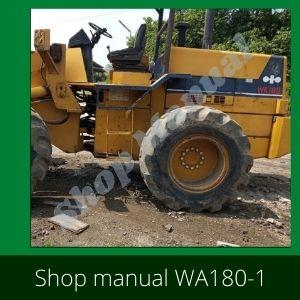 WA180 - 1 Wheel loader komatsu serial no 1001 up