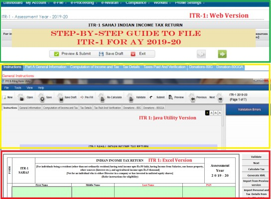 How to Independently File ITR 1 for AY 2019-20