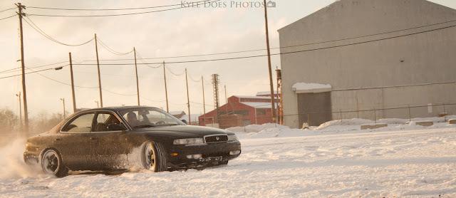 Mazda 929, Sentia, japońskie samochody z napędem na tył, drift na śniegu