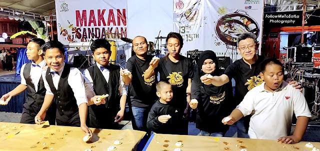 Sandakan Food Festival 2019 UFO Tarts Eating Competition Contestant