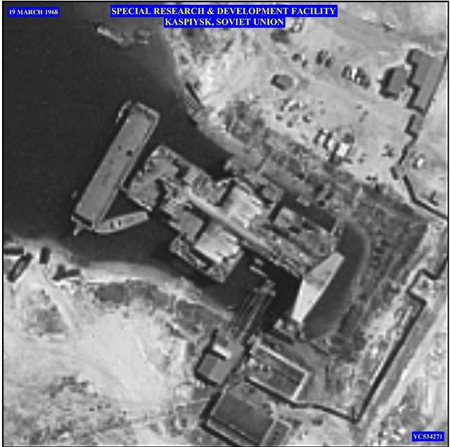 Amerika'nın casus uydusu KH-4B Corona tarafından Sovyet topraklarında çekilmiş KM (Korabl Maket) fotoğrafı...