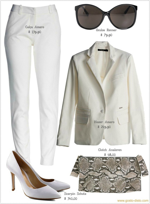 Look com terno branco outfit