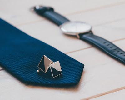 Elegant Tie Watch Cufflinks