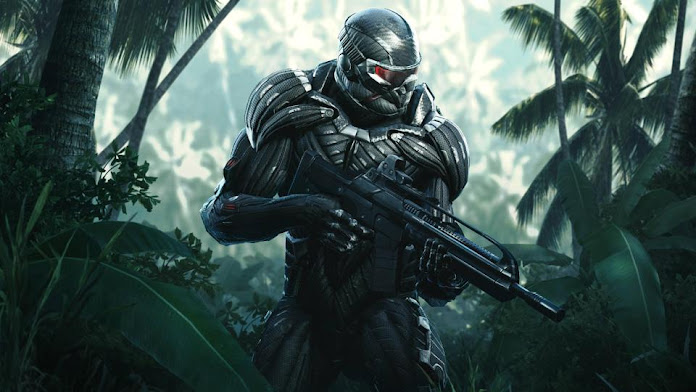 Crysis Remastered character with weapon