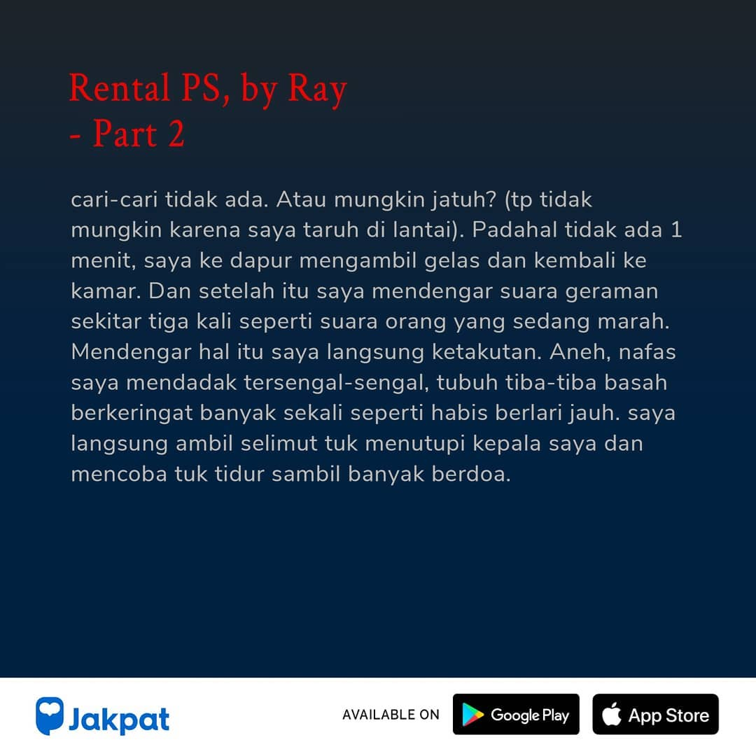 Kisah Misteri Rental PS, by Ray Part 2