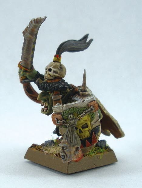 Green-skinned Hobby Goblin Warboss