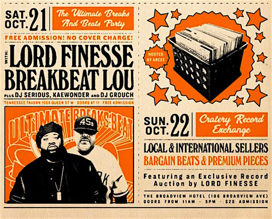 Lord Finesse & Breakbeat Lou @ Tennessee Tavern, Saturday
