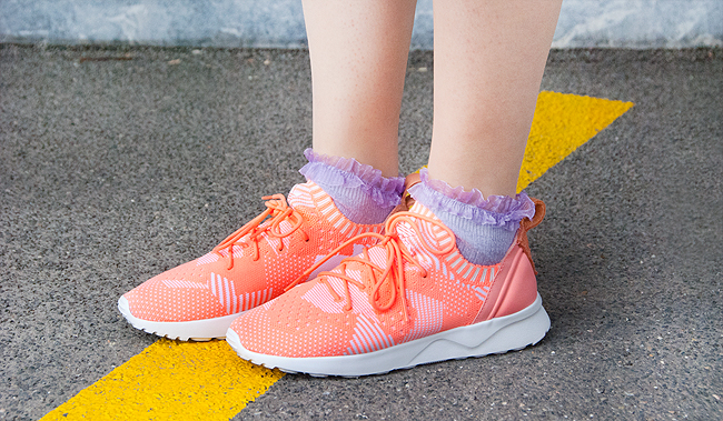 Adidas shoes, neon sneakers, sneakers and cute socks