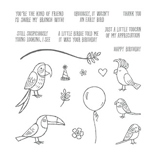 Bird Banter Stamp set - get yours here - http://bit.ly/2Fa4HzX